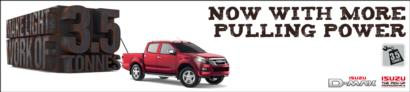 ISUZU D-MAX TOWS ITS WAY TO THE TOP